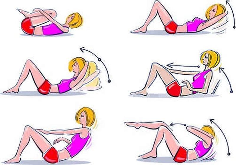 Упражнения для пресса картинки в домашних условиях